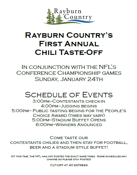 rayburn country chili cookoff